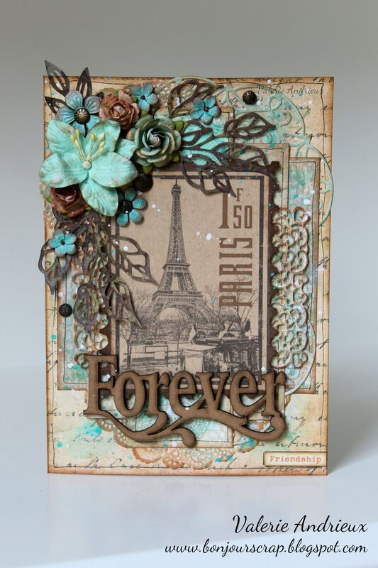 Vintage French friendship card