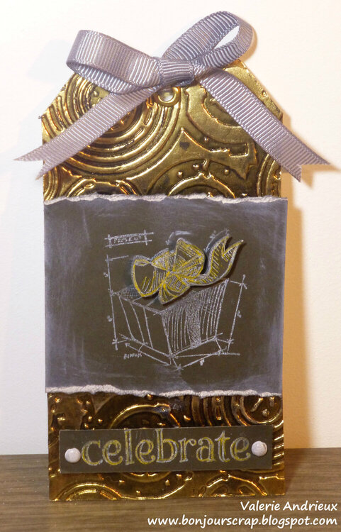 Tim Holtz style January tag
