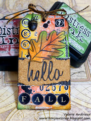 November Tim Holtz's techniques tag