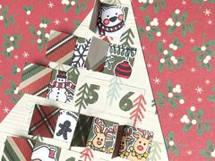 Advent calendar tree planner page