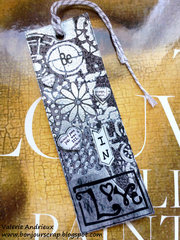Be in Love - a mixed media tag