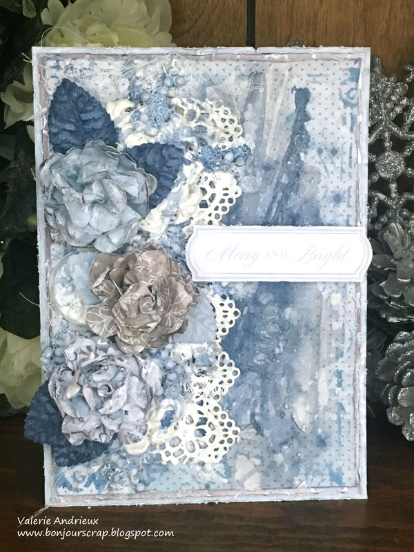 Silver and blue Christmas card