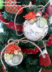 Upcycled Christmas ornament