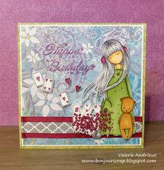 Gorjuss Happy birthday card