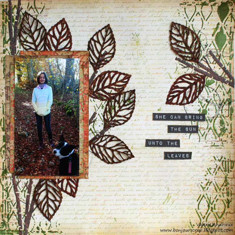 Rusty leaves layout