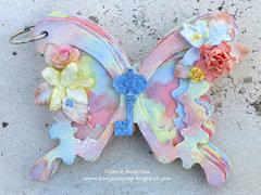Butterfly chipboard mini album