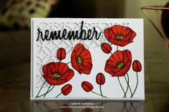 Poppy day card