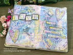 Love Art journal pages