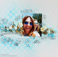 Blue ink resist layout