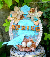 Mixed media Spring egg panel