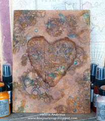 Steampunk heart altered canvas
