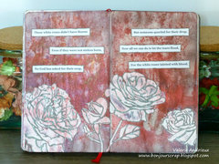 Art journal pages :white roses
