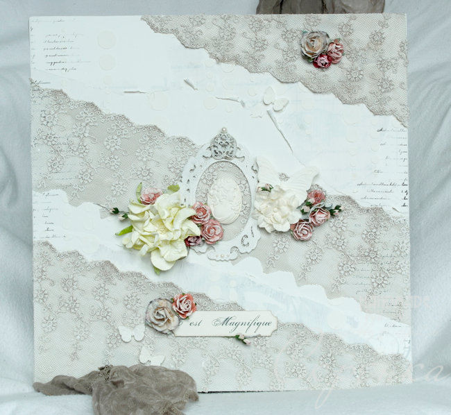 Shabby Chic Canvas Camea
