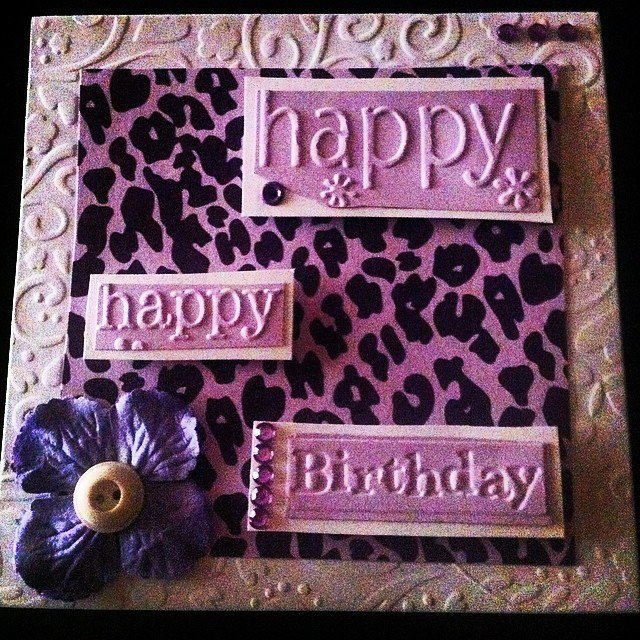 Purple Leopard Birthday