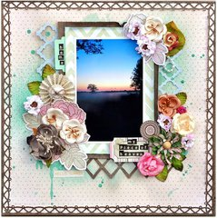 Scraps of Elegance/Sizzix UK 'Home' using Bo Bunny 'Primrose' collection
