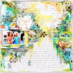 'Escapades' using Les Papiers de Pandore's 'Carta Postale'.