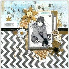 'Hiver' / 'Winter' for Les Papiers de Pandore/Sizzix