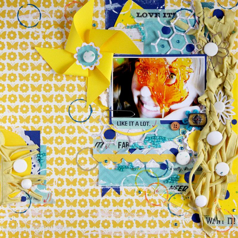 Yellow LO with pinwheel