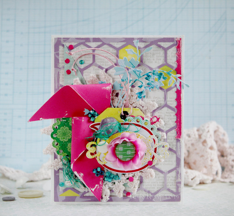 Card in pink