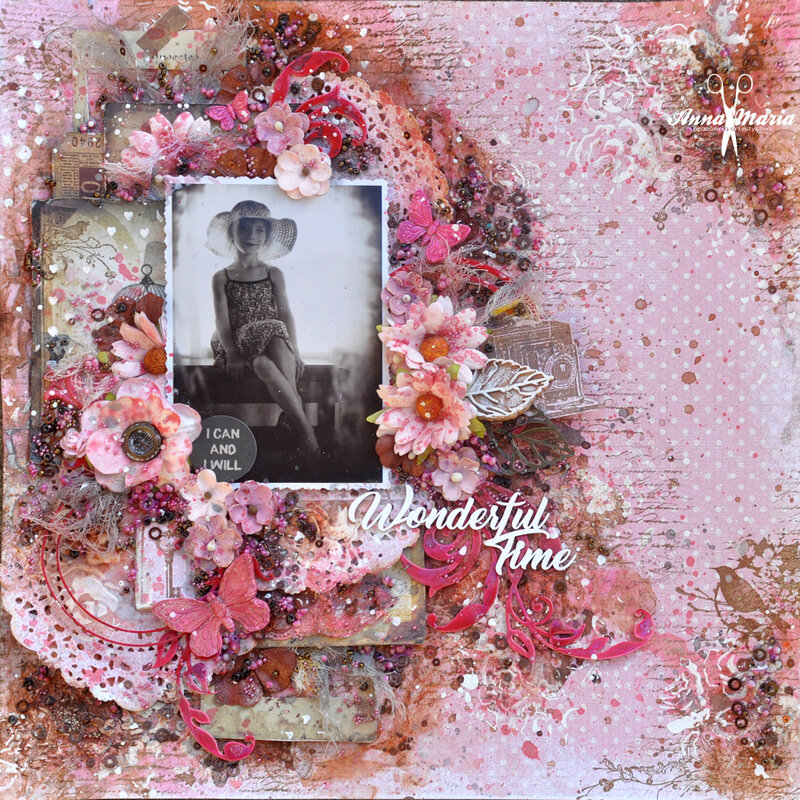 Pink and brown layout