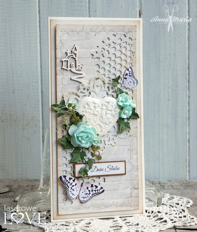 Wedding card with heart