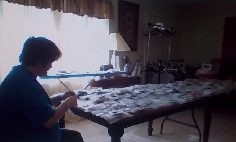 Toni sorting LOTW's
