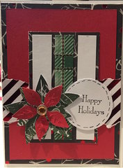 Happy Holidays - poinsettia