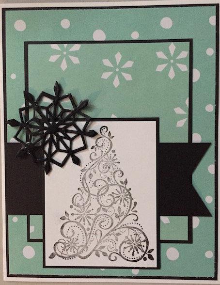 Tree/Snowflake Christmas card