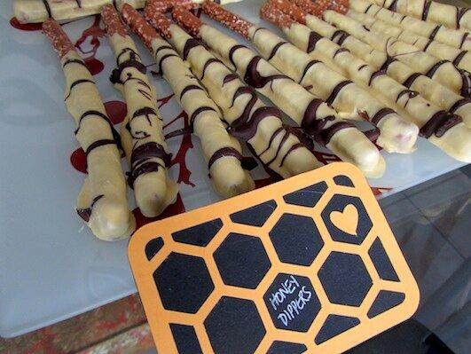 Honey Dipper Stick Food Label