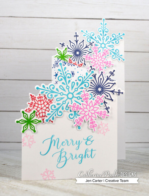 Merry & Bright Snowflake Z-Fold