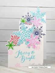 Merry & Bright Snowflake Z-Fold