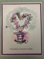 Watercolor Valentine Card