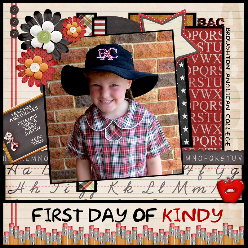 First Day of Kindy