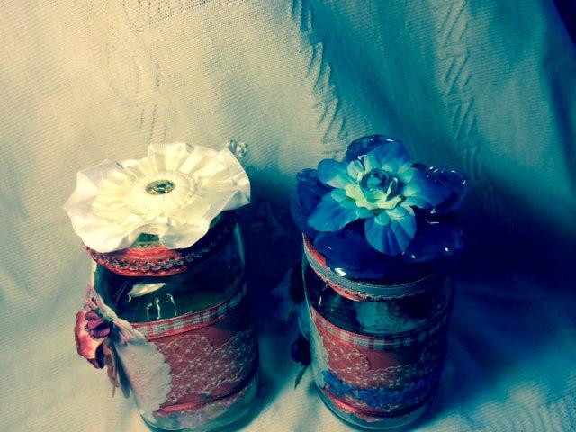 Altered Valentine's Gift Jar/ top