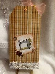 Vintage Sewing Machine Tag Swap
