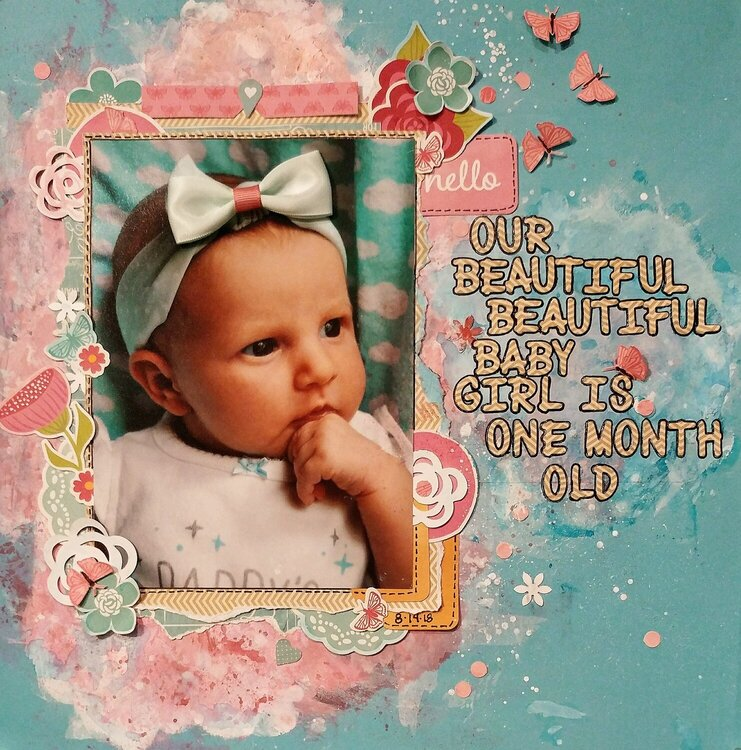Our Beautiful Baby Girl is One Month