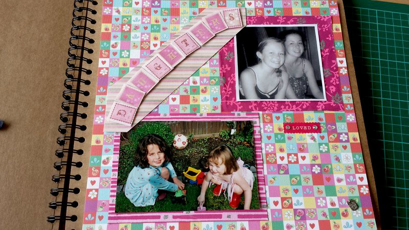 My very first scrapbook page!