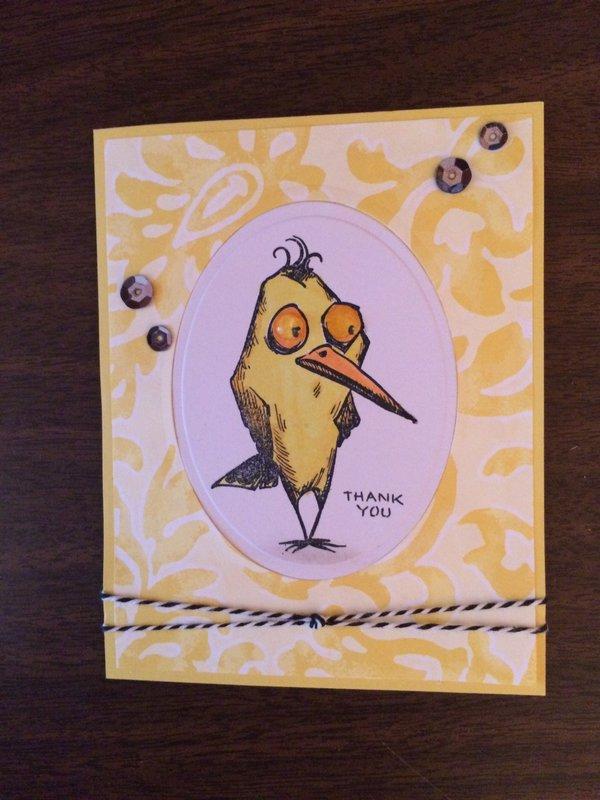 Bird Crazy Thank you card