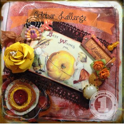Autumn Fabric Album - Berry71Bleu