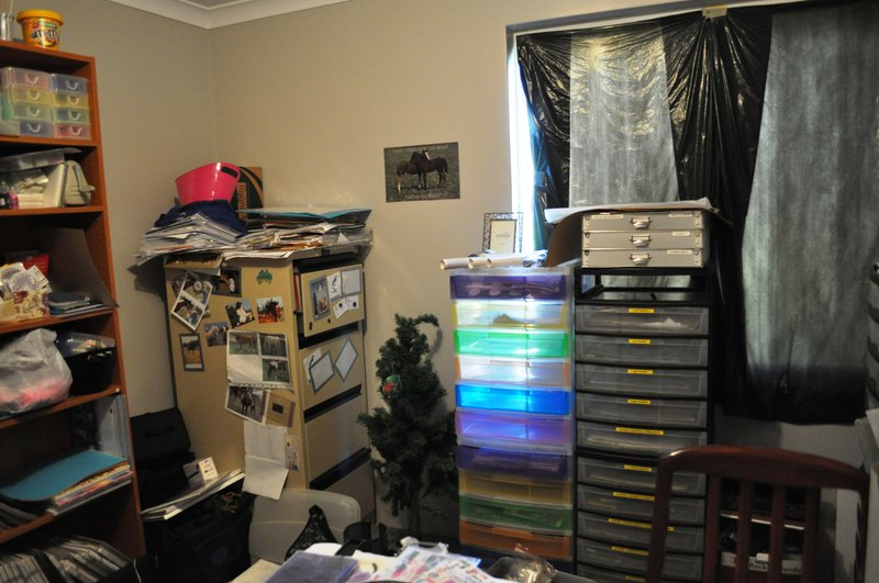 another view of my scrapbook room