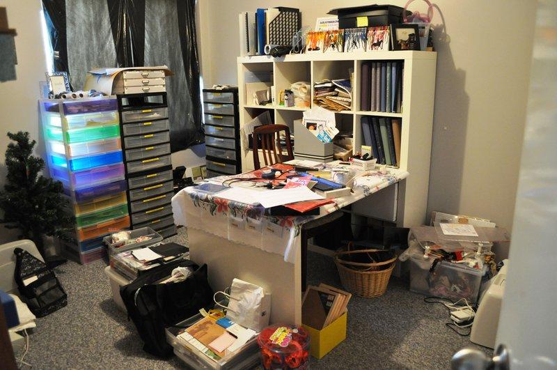 My Scraproom before clean up