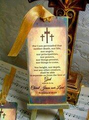 Romans 8:38-39 Chipboard Bookmarks