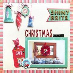 Shiny Brite Christmas Village