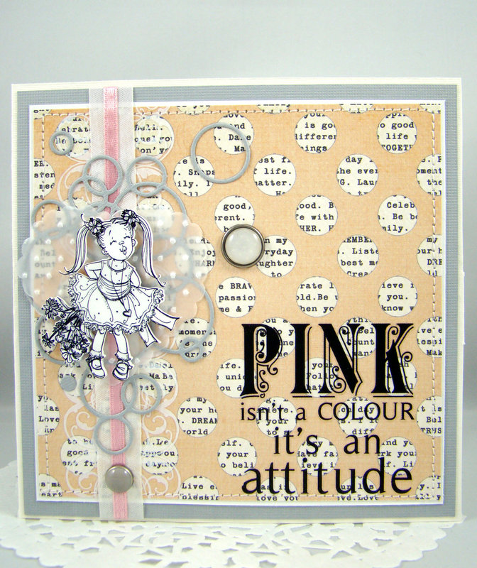 """CD- folder """"Pink is not a color, it is an attitude""""."""