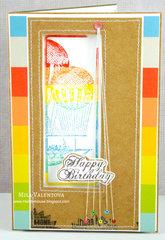 Tutorial card Mila Valentova Happy Birthday.