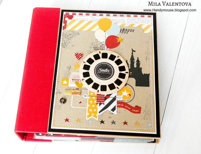 """Magic Disneyland"" Simple Stories say cheese album."