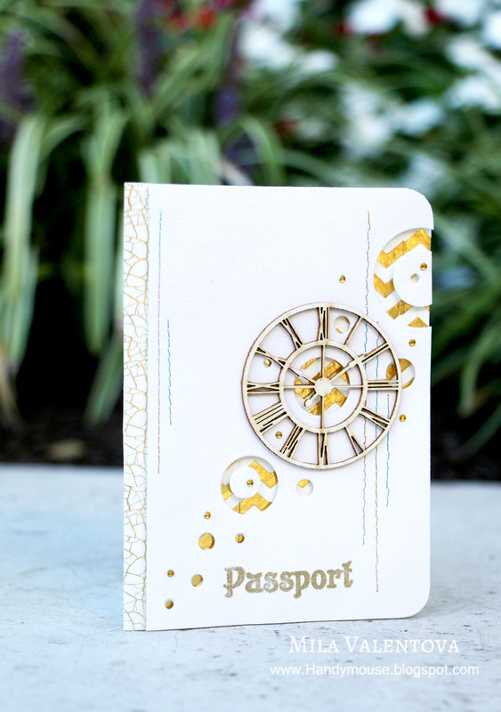 "Passport cover ""Gold worlds""."