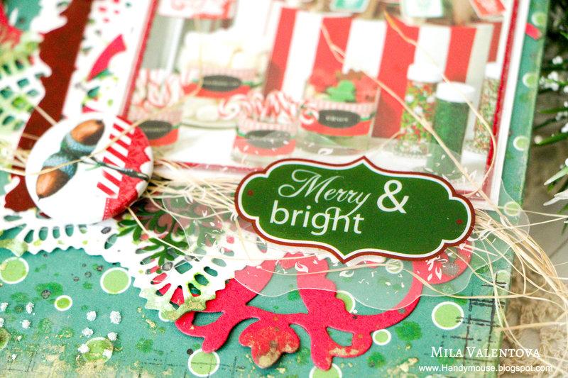 """Mini-album """"Merry & bright""""."""