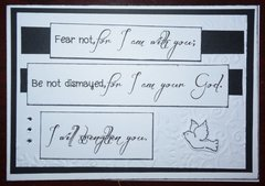 Fear not, for I am with you