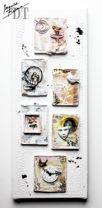 Decorative Plaster Tablets on Canvas